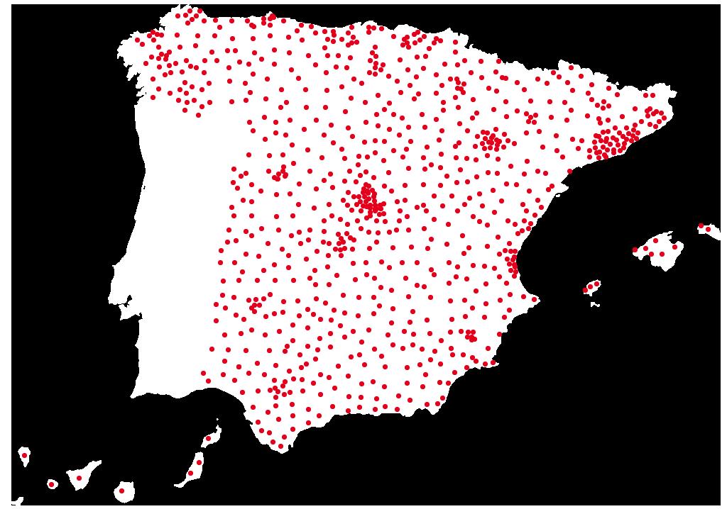 Mapa franquicias DIA